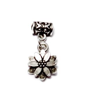 Accesoriu si pandantiv tibetan pt. bratari tip Pandora, pandantiv floare 12mm 1 buc