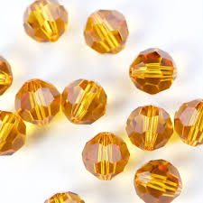 Swarovski Elements, Faceted Round 5000-Topaz, 4mm 1 buc