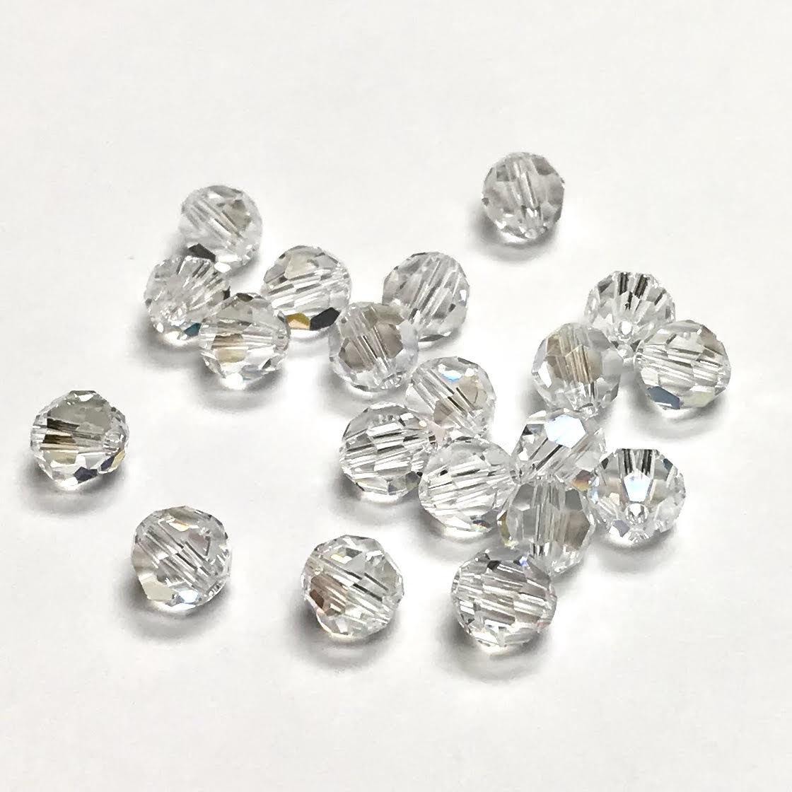 Swarovski Elements, Faceted Round 5000-Crystal, 8mm 1 buc