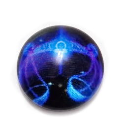 Cabochon sticla zodiac, albastru, BALANTA , 12x4mm  1 buc