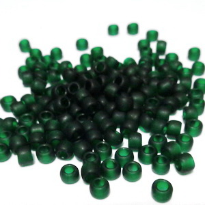 Margele TOHO - rotunde 6/0 : Transparent-Frosted Green Emerald 20 g