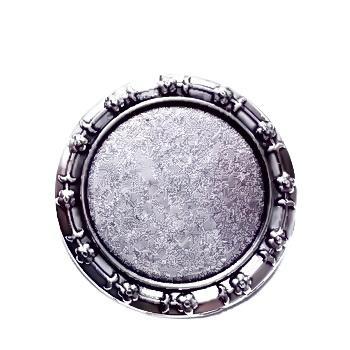 Baza cabochon, argint tibetan, brosa 25x20mm, interior 18x13mm 1 buc