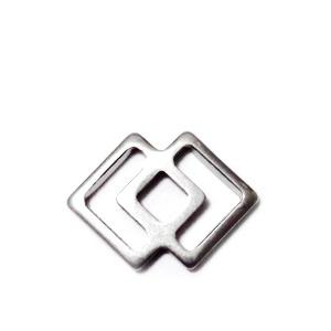Conector/link otel inoxidabil 304, 2 romburi, 16x11.5x1mm 1 buc