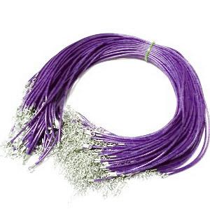 Ata cerata violet, 1.5mm, cu inchizatoare, 45cm 1 buc