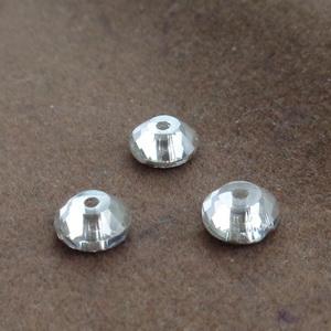 Margele sticla, conice, multifete, transparente, 6x2.5mm 10 buc