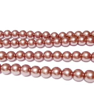 Perle sticla maro-caramel, 4mm 10 buc