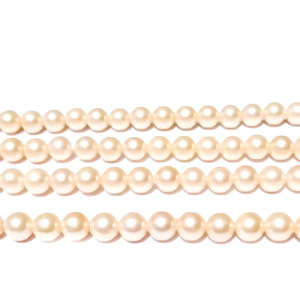 Perle stil Mallorca, roz deschis, 4.5mm 1 buc