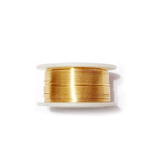 Sarma modelaj NON TARNISH, GILT, 0.8mm, bobina 7.8 metri 1 buc
