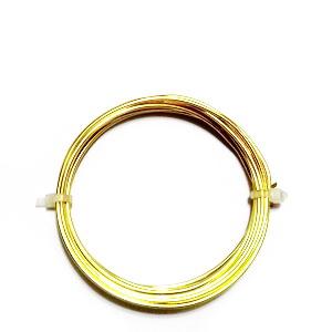 Sarma modelaj NON TARNISH, placata cu aur, 1.5mm-rola 1.75m 1 buc
