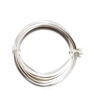 Sarma modelaj NON TARNISH, soft, placata cu argint, 1 mm-rola 4m 1 buc