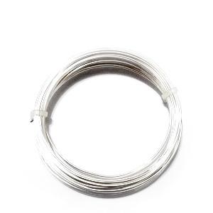 Sarma modelaj NON TARNISH, placata cu argint, 0.8mm-rola 6m 1 buc