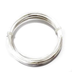 Sarma modelaj NON TARNISH, soft, placata cu argint, 0.6mm-rola 10m 1 buc