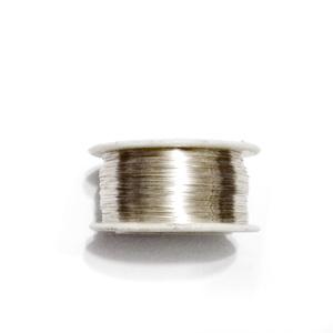Sarma modelaj NON TARNISH, soft, placata cu argint, 0.2mm-bobina 125metri 1 buc