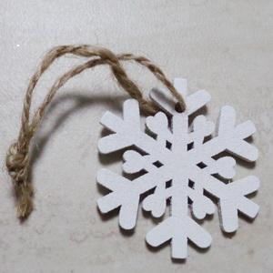 Ornament brad din lemn, stea  82x82x3mm-set 2 buc 1 buc