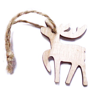 Ornament brad din lemn, brad 85x72x3mm-set 2 buc 1 set