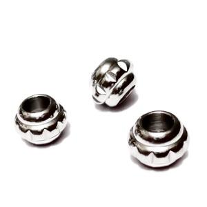 Margele otel inoxidabil 304, stil Pandora, 10x7.5mm, orificiu 5mm 1 buc