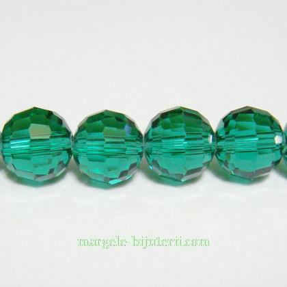 Margele sticla multifete verzi 10mm 1 buc
