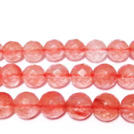 Cuart cherry, multifete, 8mm 1 buc
