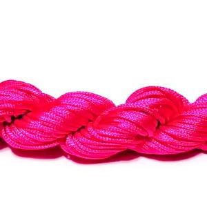 Snur matasos pentru bratari shamballa, roz-magenta, grosime 1mm 1 scul 26 m