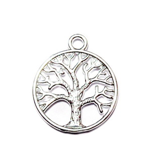 Pandantiv placat cu argint, copacul vietii, 24x20mm 1 buc