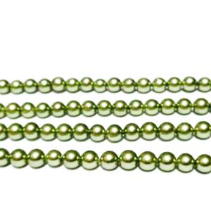 Perle stil Mallorca, kaky deschis, 4.5mm 1 buc