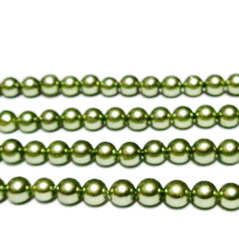 Perle stil Mallorca, kaky deschis, 6mm 1 buc