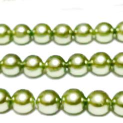 Perle stil Mallorca, kaky deschis, 12mm 1 buc
