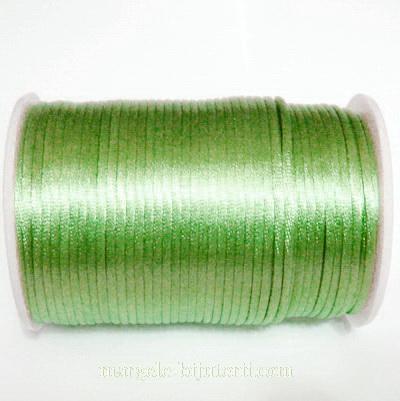 Snur saten, verde deschis,  2mm 1 m