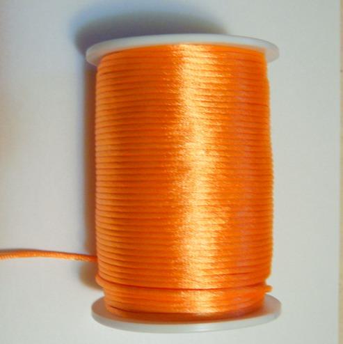 Snur saten portocaliu, 2mm 1 m