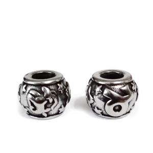 Margele otel inoxidabil 316, stil Pandora, cu aspect tibetan, 11x9mm, zodiac, taur 1 buc