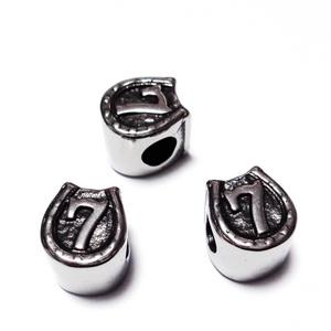 Margele otel inoxidabil 304, stil Pandora, potcoava, 11x9.5x9mm, orificiu: 4.5mm 1 buc