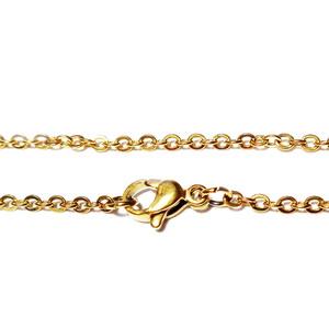 Lant otel inoxidabil 304, auriu, cu inchizatoare, zale 2x0.5mm, lungime 46cm 1 buc