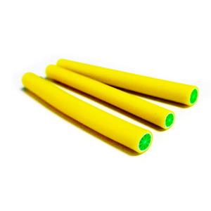Bete fimo galbene cu verde, 50x5-6mm 1 buc