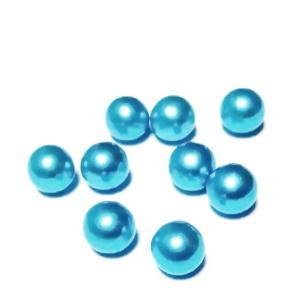 Perle plastic 8mm, FARA ORIFICIU, bleu 1 buc