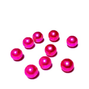 Perle plastic 8mm, FARA ORIFICIU, fucsia 1 buc