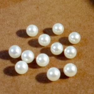Perle plastic 6mm, FARA ORIFICIU, albe 1 buc