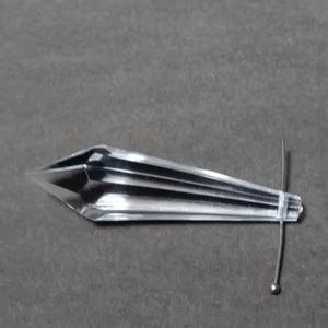 Margele plastic transparente (briolete), lacrima 62x5~16mm 1 buc
