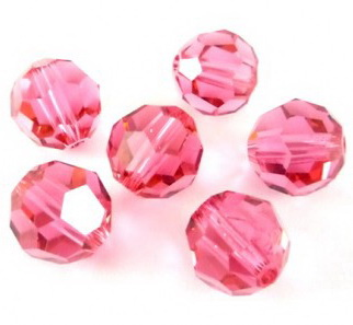 Swarovski Elements, Faceted Round 5000-Indian Pink, 4mm 1 buc