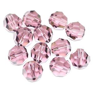 Swarovski Elements, Faceted Round 5000-Blush Rose, 6mm 1 buc