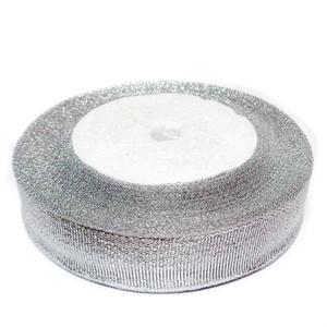 Panglica lurex argintie, 20mm-rola cca 22 metri 1 buc