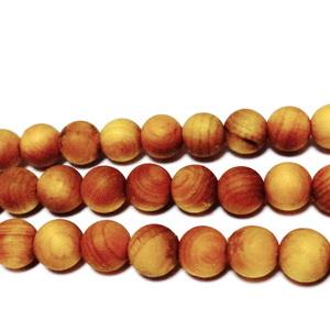 Margele lemn exotic, mate, maro-portocaliu, 8mm 1 buc