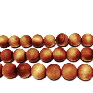 Margele lemn exotic, mate, maro-portocaliu, 10mm 1 buc