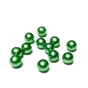 Perle plastic 6mm, FARA ORIFICIU, verde deschis 1 buc