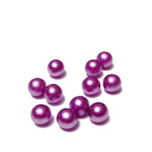 Perle plastic 6mm, FARA ORIFICIU, violet 1 buc