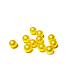 Perle plastic 6mm, FARA ORIFICIU, galbene 1 buc