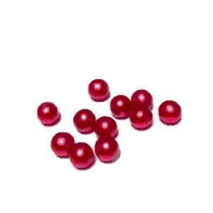 Perle plastic 6mm, FARA ORIFICIU, rosii 1 buc