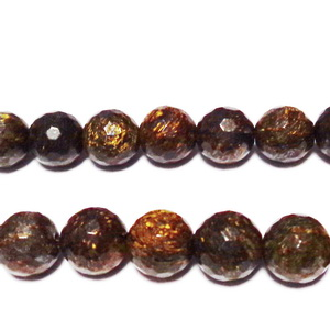 Bronzite multifete, 8mm 1 buc