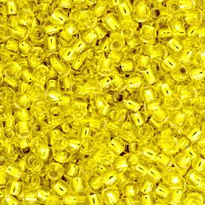 Margele TOHO rotunde 11/0 : Silver-Lined Lemon 20 g