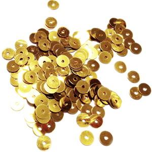 Paiete plastic, aurii, 5mm- 10 grame(1300-1350buc) 1 buc