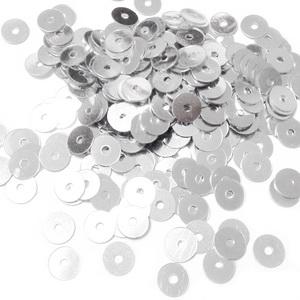 Paiete plastic, argintii, 5mm- 10 grame(1300-1350buc) 1 buc